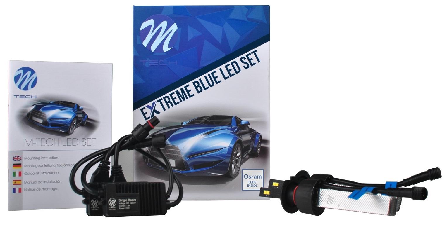 Kit 2x Lampadas LED Extreme H7 6000K 40W 5000Lm
