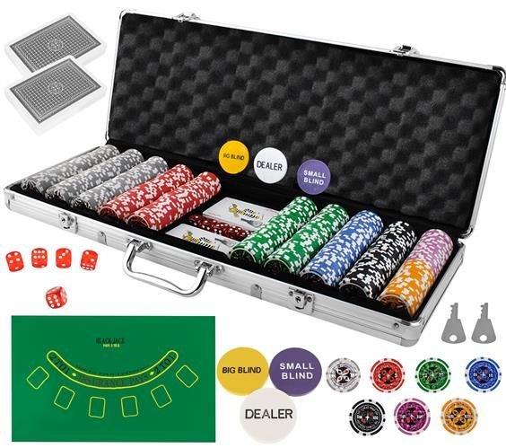Super Mala de Poker c/ 500 Fichas