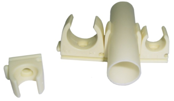 Abraçadeira PVC Tipo CLIP p/ Tubo VD 16mm