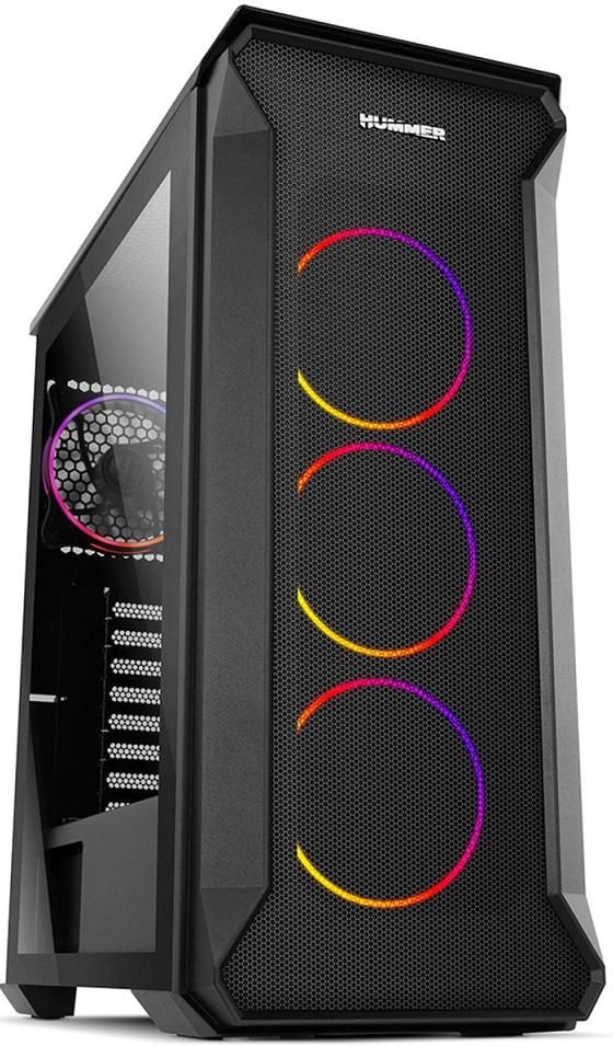 Caixa ATX Hummer Quantum RGB Full Tempered Glass Preto - NOX