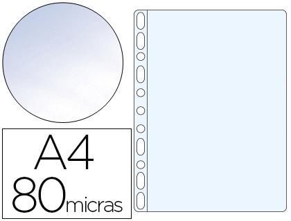 Bolsa Catalogo Q-Connect Din A4 80 Microns Cristal (Caixa de 100 Unidades)
