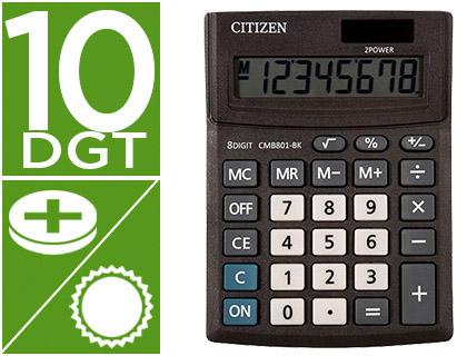 Calculadora Citizen de Secretaria Business Line Eco Eficiente Solar e Pilhas 10 Digitos