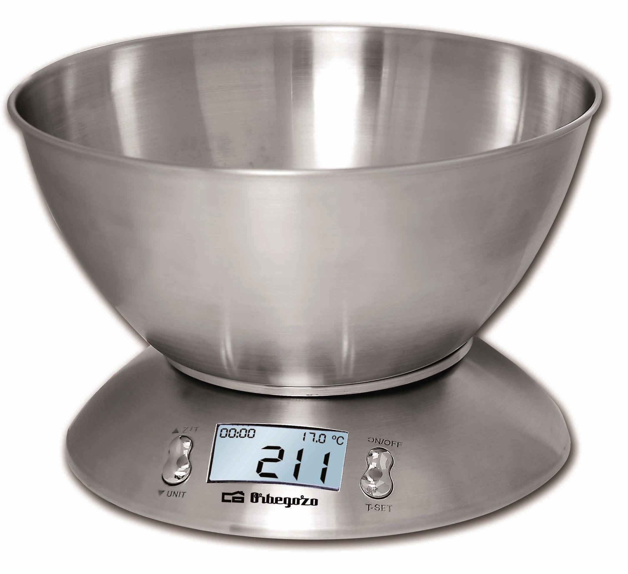 Balança de Cozinha 5Kg (2g) c/ Recepiente - ORBEGOZO