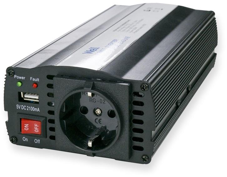 Conversor 24V -> 220V 600W c/ USB - WELL