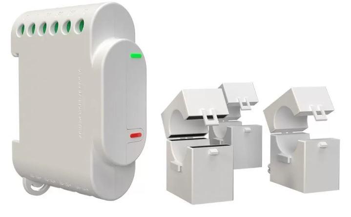 Módulo Medidor de Consumo Trifásico Wi-Fi e Controlo de Contator - Shelly 3EM
