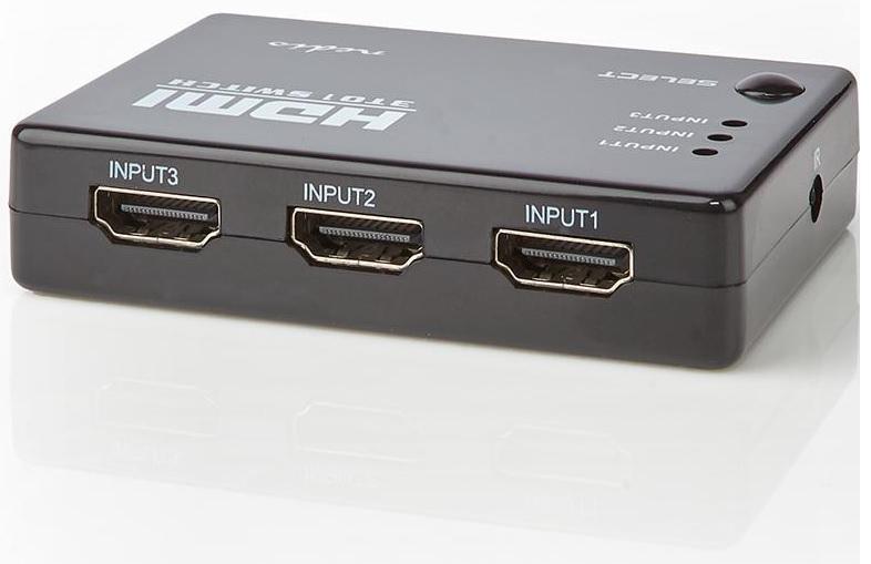Distribuidor de Sinal HDMI 3 Entradas / 1 Saida - NEDIS