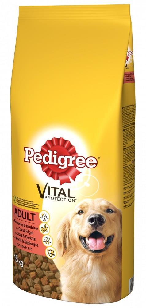 Ração Vital Bife e Frango p/ Cão Adulto (15Kg) - PEDIGREE