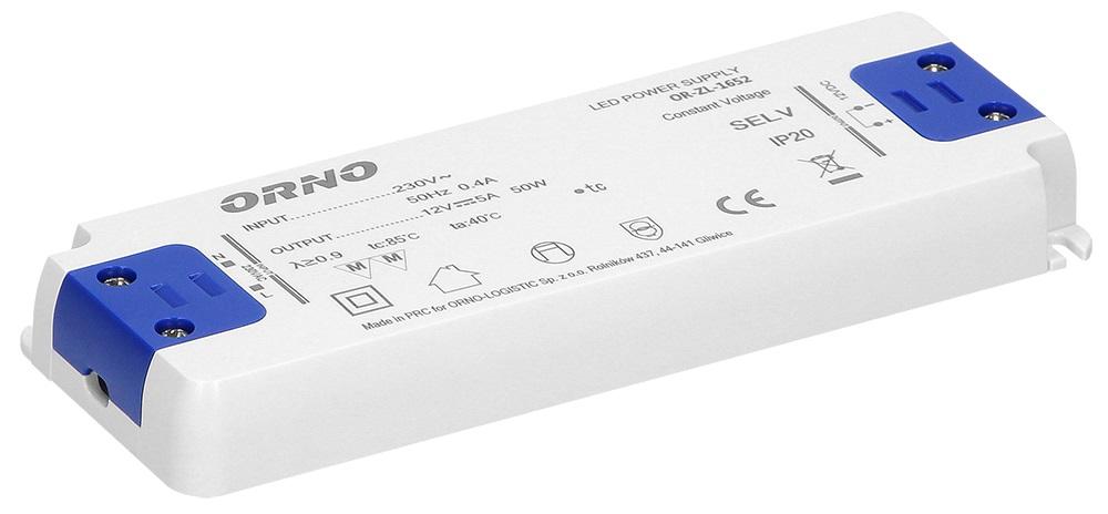 Transformador Electrónico p/ LEDs 12V 50W - ORNO