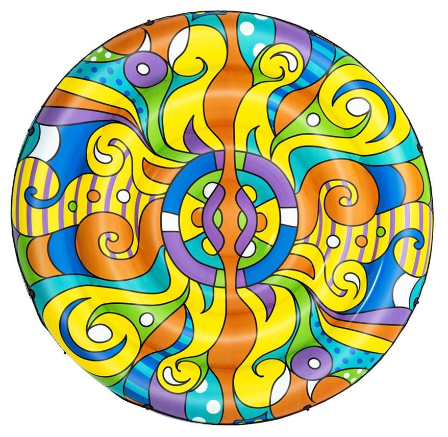 Bóia Inflável Ilha Flutuante Pop Art (188 cm) - BESTWAY 43195