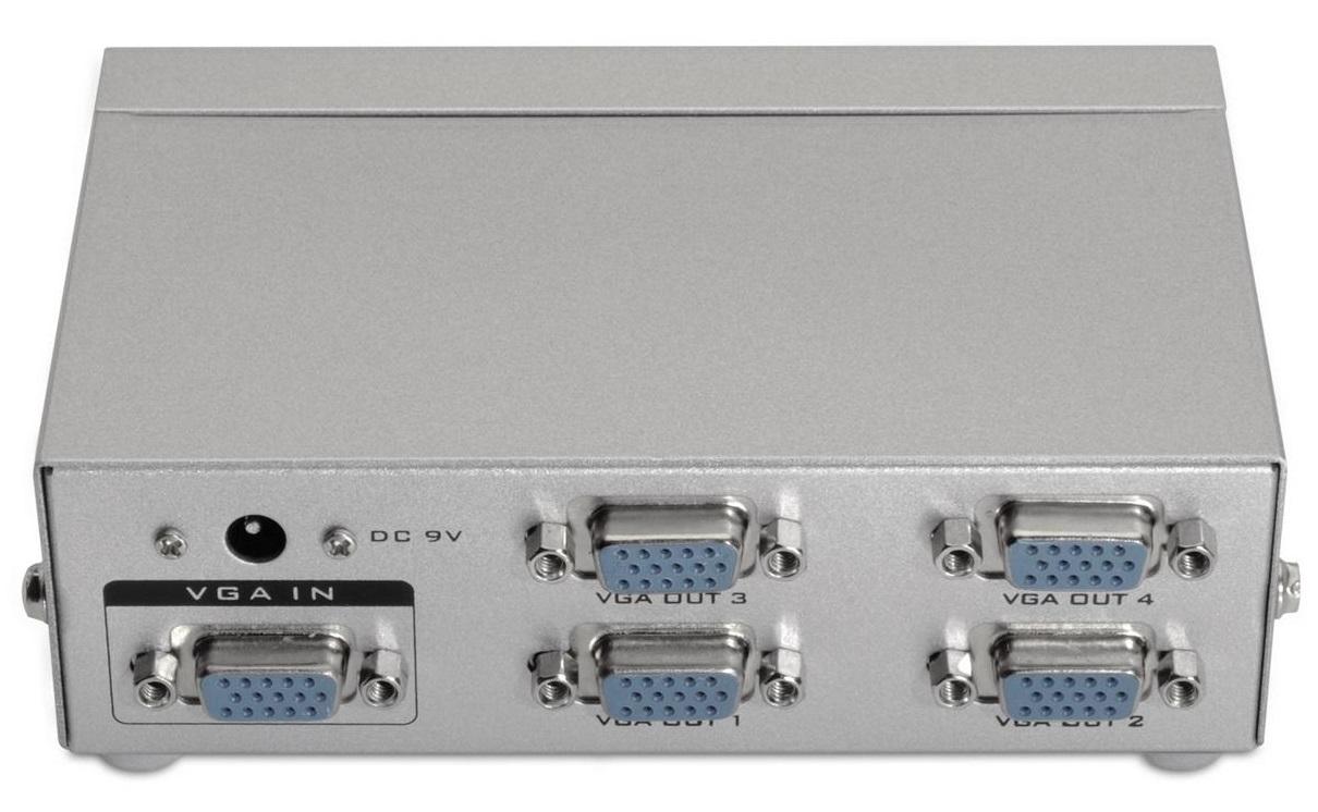 Splitter VGA - 4x VGA WQXGA (Cinzento) - AISENS