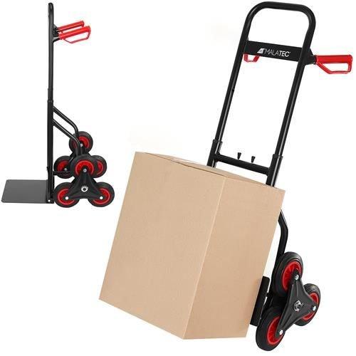 Carrinho (6 Rodas) p/ Transporte Subir Escadas Máx. Carga 200kg - MALATEC