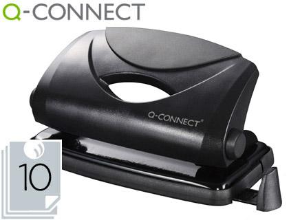 Furador Q-Connect, Capacidadee 10 Folhas - Preto