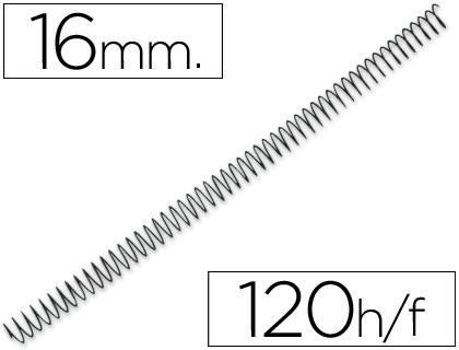 Espiral Q-Connect Metalico 56 4:1 16mm 1,2mm (100 Unidades)